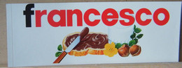 MONDOSORPRESA, ADESIVI NUTELLA NOMI, FRANCESCO - Nutella
