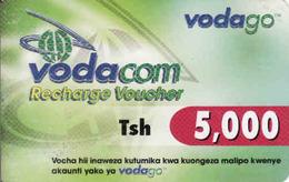 Tanzania Vodago Recharge Card, 5000 Tsh - Tanzanie