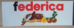 MONDOSORPRESA, ADESIVI NUTELLA NOMI, FEDERICA - Nutella