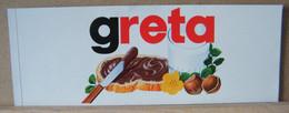 MONDOSORPRESA, ADESIVI NUTELLA NOMI, GRETA - Nutella