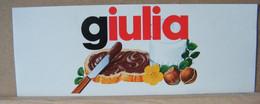 MONDOSORPRESA, ADESIVI NUTELLA NOMI, GIULIA - Nutella