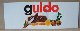MONDOSORPRESA, ADESIVI NUTELLA NOMI, GUIDO - Nutella