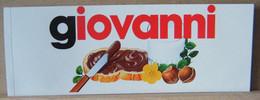 MONDOSORPRESA, ADESIVI NUTELLA NOMI, GIOVANNI - Nutella