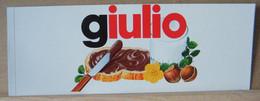 MONDOSORPRESA, ADESIVI NUTELLA NOMI, GIULIO - Nutella