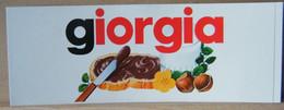 MONDOSORPRESA, ADESIVI NUTELLA NOMI, GIORGIA - Nutella