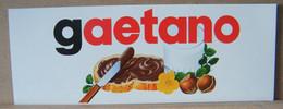 MONDOSORPRESA, ADESIVI NUTELLA NOMI, GAETANO - Nutella