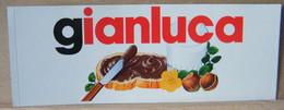 MONDOSORPRESA, ADESIVI NUTELLA NOMI, GIANLUCA - Nutella