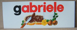 MONDOSORPRESA, ADESIVI NUTELLA NOMI, GABRIELE - Nutella