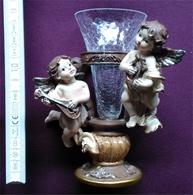Anges / Angelots / Cherubins Musiciens Avec Mini Porte-vase - Figurines