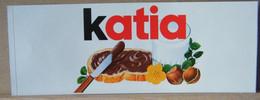 MONDOSORPRESA, ADESIVI NUTELLA NOMI, KATIA - Nutella