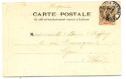 Indochine - CPA - N°22 (surchargé) De Saigon Pour Lyon - 1905 - 2 Scans - (A139) - Indochina (1889-1945)