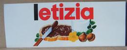 MONDOSORPRESA, ADESIVI NUTELLA NOMI, LETIZIA - Nutella