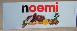 MONDOSORPRESA, ADESIVI NUTELLA NOMI, NOEMI - Nutella