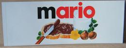 MONDOSORPRESA, ADESIVI NUTELLA NOMI, MARIO - Nutella