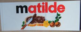 MONDOSORPRESA, ADESIVI NUTELLA NOMI, MATILDE - Nutella