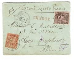 BASSES PYRENEES BAYONNE Lettre Avec Valeur Déclarée 300 F Du 18/09/1892 25 C Et 40 C Sage  TTB - Storia Postale