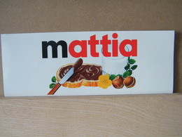 MONDOSORPRESA, ADESIVI NUTELLA NOMI, MATTIA - Nutella