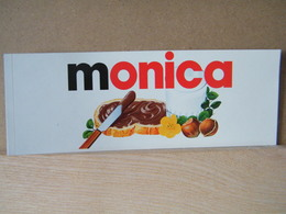 MONDOSORPRESA, ADESIVI NUTELLA NOMI, MONICA - Nutella