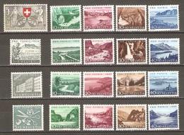 20 Timbres Suisse ( Pro-Patria De 1953 /56 ) - Pro Patria