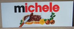 MONDOSORPRESA, ADESIVI NUTELLA NOMI, MICHELE - Nutella