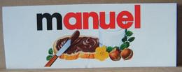 MONDOSORPRESA, ADESIVI NUTELLA NOMI, MANUEL - Nutella