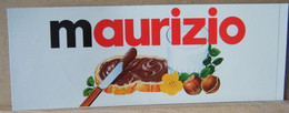 MONDOSORPRESA, ADESIVI NUTELLA NOMI, MAURIZIO - Nutella
