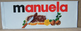 MONDOSORPRESA, ADESIVI NUTELLA NOMI, MANUELA - Nutella