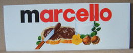 MONDOSORPRESA, ADESIVI NUTELLA NOMI, MARCELLO - Nutella