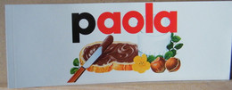 MONDOSORPRESA, ADESIVI NUTELLA NOMI, PAOLA - Nutella