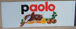 MONDOSORPRESA, ADESIVI NUTELLA NOMI, PAOLO - Nutella