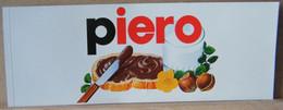 MONDOSORPRESA, ADESIVI NUTELLA NOMI, PIERO - Nutella