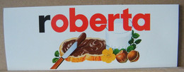 MONDOSORPRESA, ADESIVI NUTELLA NOMI, ROBERTA - Nutella