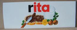 MONDOSORPRESA, ADESIVI NUTELLA NOMI, RITA - Nutella