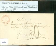 BRIEFOMSLAG Uit 1853 Gelopen Van WYK BY DUURSTEDE Naar 's-GRAVENHAGE  (11.022) - 1852-1890 (Guillaume III)