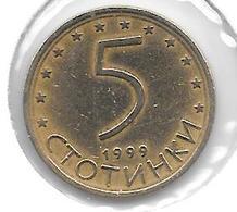 *bulgaria 5 Stotinski 1999 Km 239 - Bulgarie