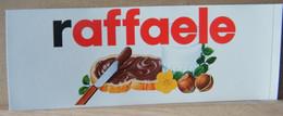 MONDOSORPRESA, ADESIVI NUTELLA NOMI, RAFFAELE - Nutella