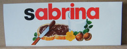 MONDOSORPRESA, ADESIVI NUTELLA NOMI, SABRINA - Nutella