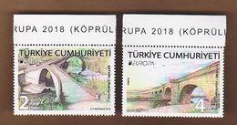 AC - TURKEY STAMP - HISTORICAL BRIDGES ARTVIN - EDIRNE MNH 09 MAY 2018 - Neufs