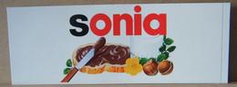 MONDOSORPRESA, ADESIVI NUTELLA NOMI, SONIA - Nutella