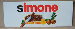 MONDOSORPRESA, ADESIVI NUTELLA NOMI, SIMONE - Nutella