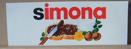 MONDOSORPRESA, ADESIVI NUTELLA NOMI, SIMONA - Nutella