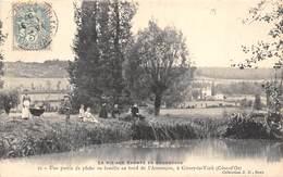 21-GISSEY-LE-VIEIL- UNE PARTIE DE PÊCHE AU BORD DE L'ARMANCON - France