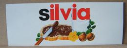 MONDOSORPRESA, ADESIVI NUTELLA NOMI, SILVIA - Nutella