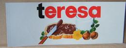 MONDOSORPRESA, ADESIVI NUTELLA NOMI, TERESA - Nutella
