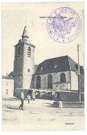 Cpa Sorcy - L'église ( Tampon Militaire Convois Automobiles ) - France
