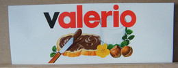 MONDOSORPRESA, ADESIVI NUTELLA NOMI, VALERIO - Nutella