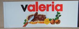 MONDOSORPRESA, ADESIVI NUTELLA NOMI, VALERIA - Nutella