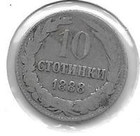 *bulgaria 10 Stotinski 1888 Km 10 Fr+ - Bulgarie