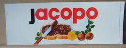 MONDOSORPRESA, ADESIVI NUTELLA NOMI, JACOPO - Nutella