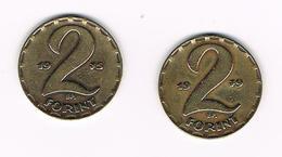 HONGARIJE  2 X 2 FORINT  1975/79 - Hongrie
